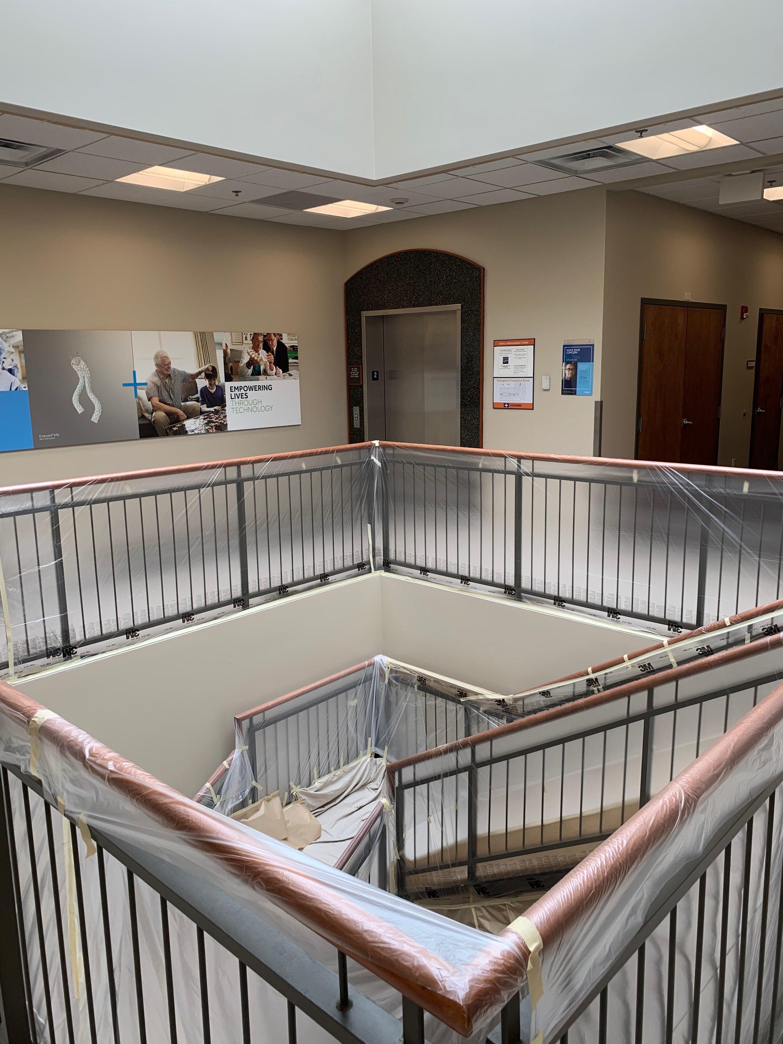 med Tronic core stairwell prep 4-27-19 #4.JPG