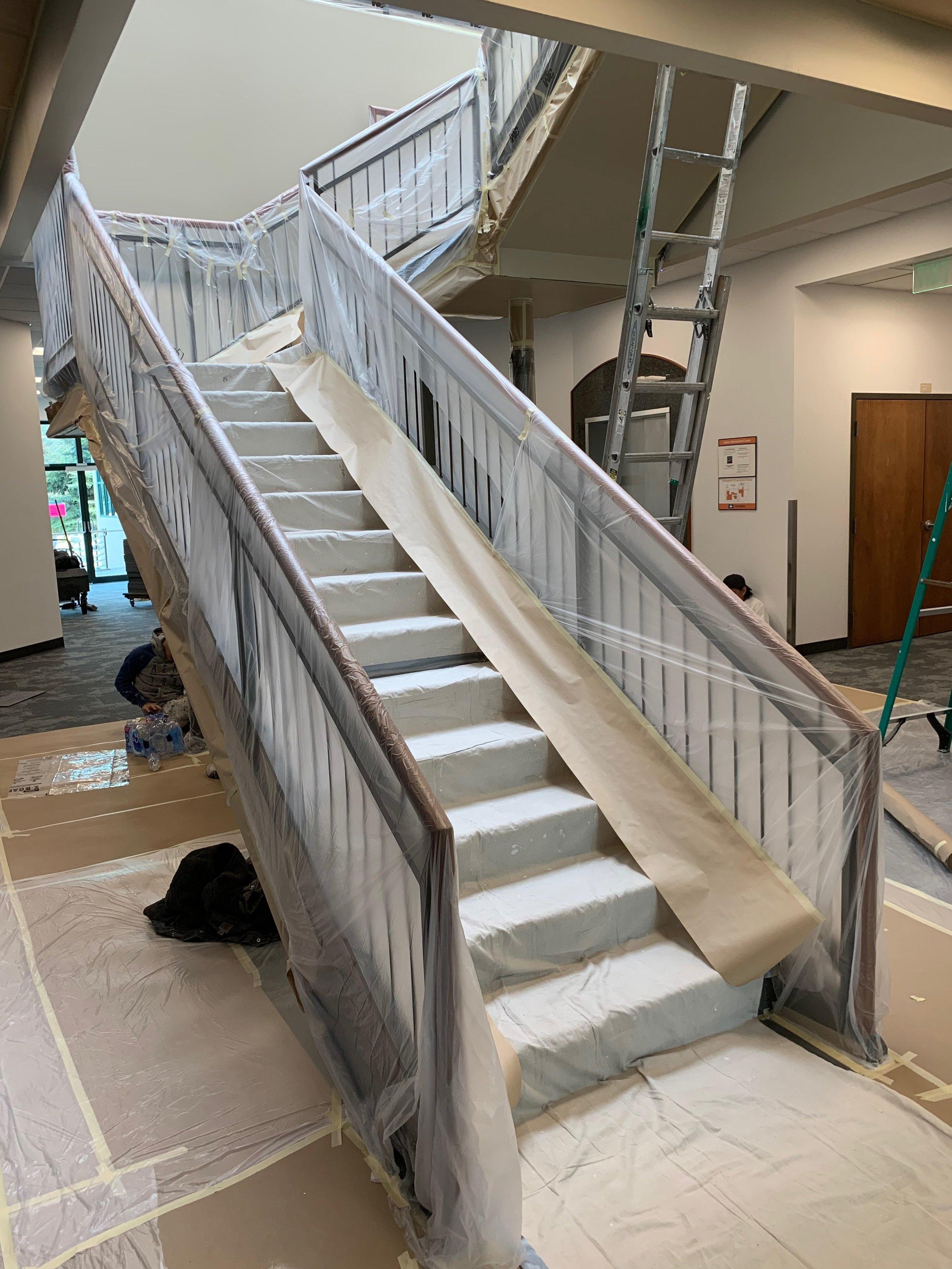 med Tronic core stairwell prep 4-27-19 #5.JPG