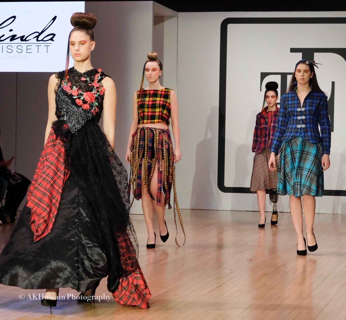 LINDA BASSETT - Variety of dresses with quirky styles loved the element of The scottish feel