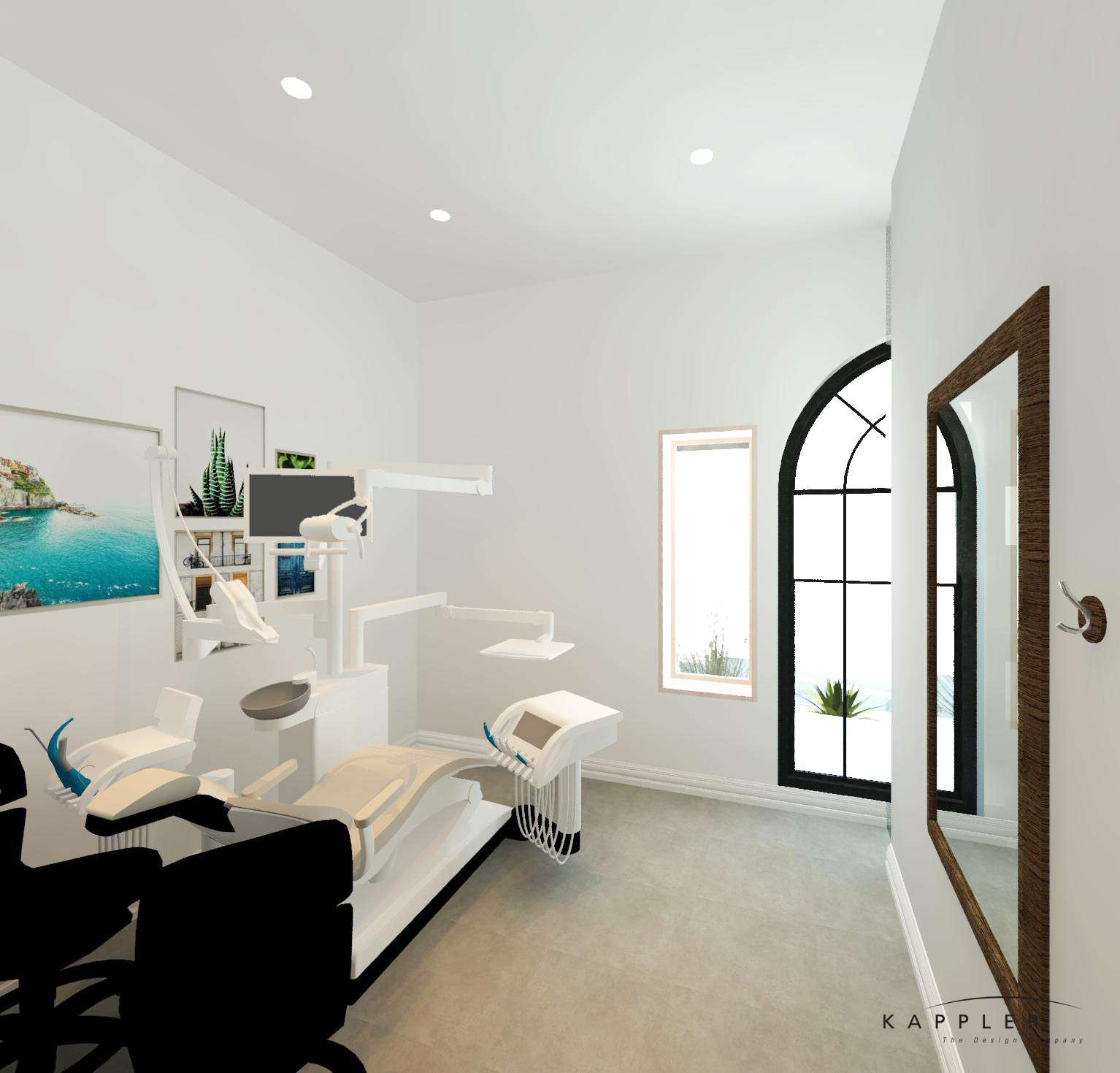 bright dental operating room concept design