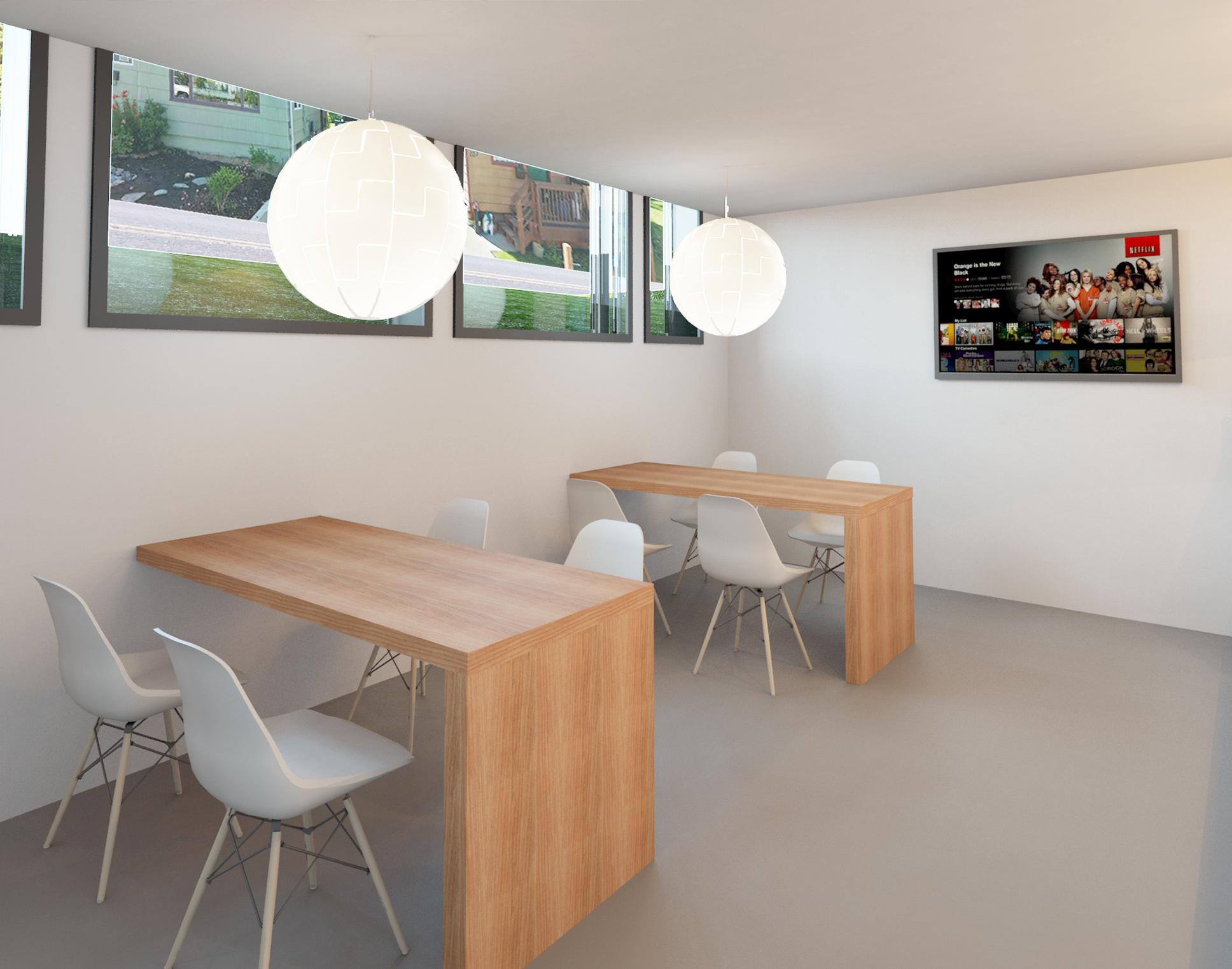 modern dental staff lounge