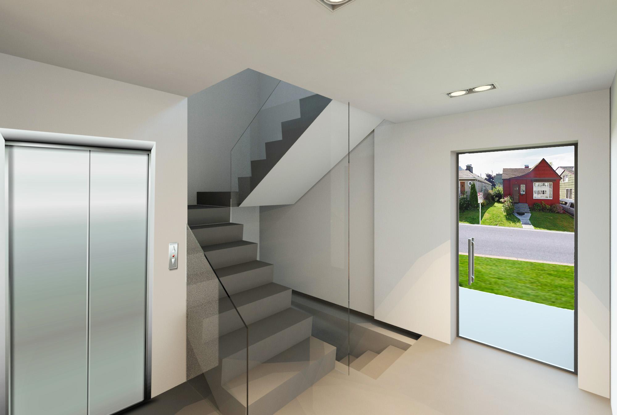 modern office stairwell design