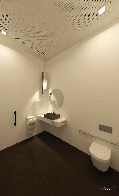 modern white and gray bathroom design