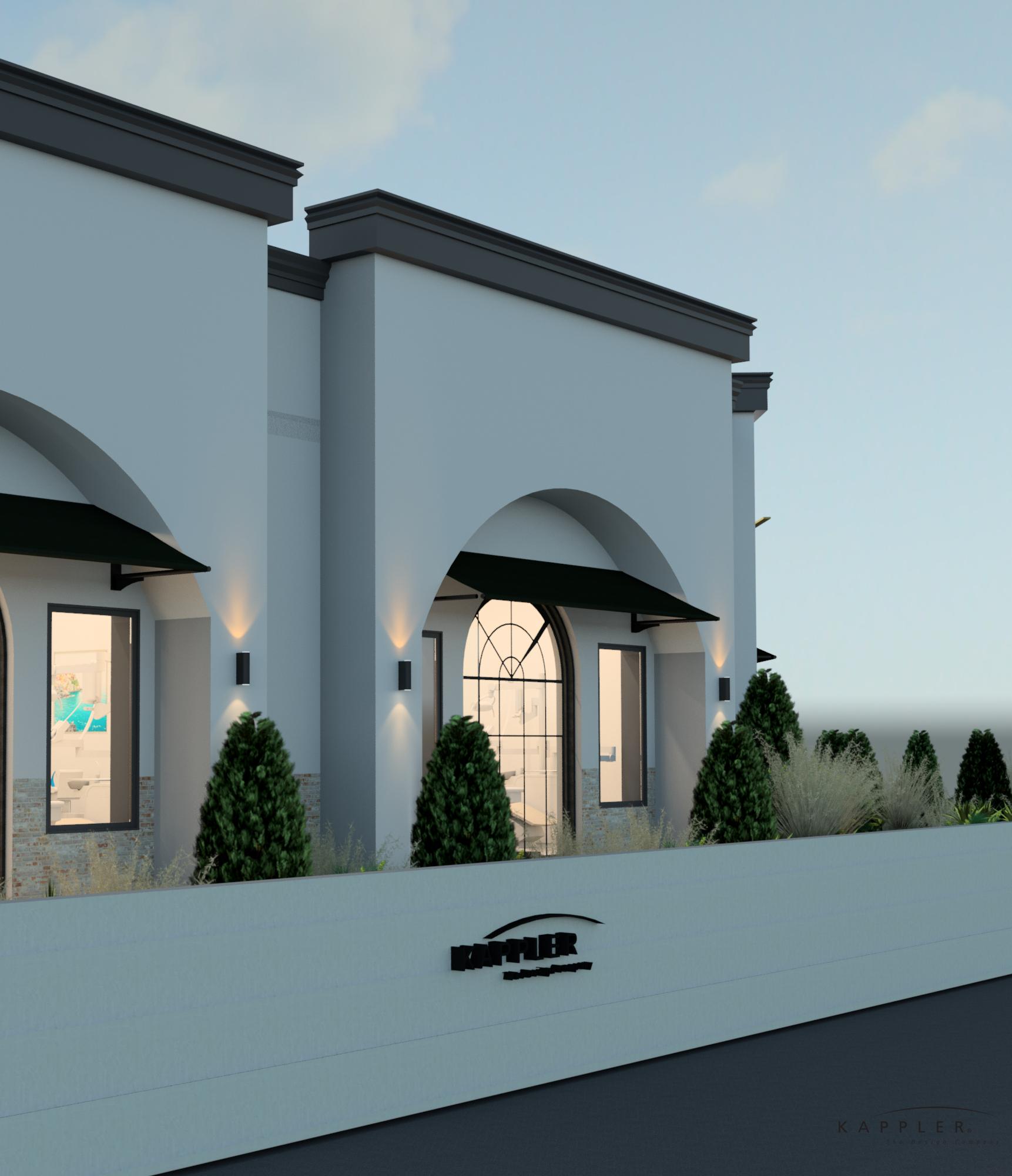 Modern Mediterranean dental office design exterior