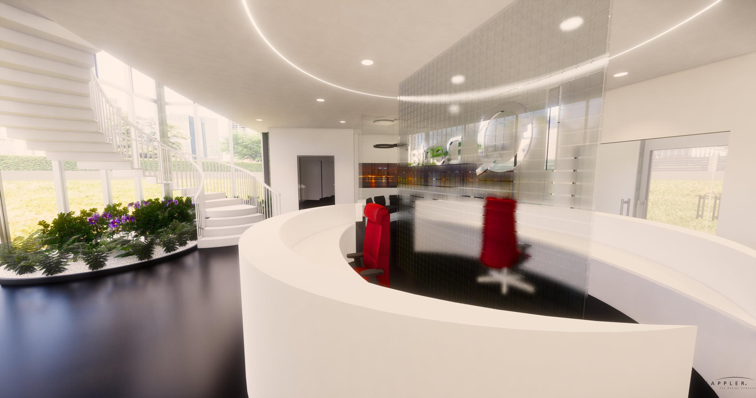 New York dental office design reception area
