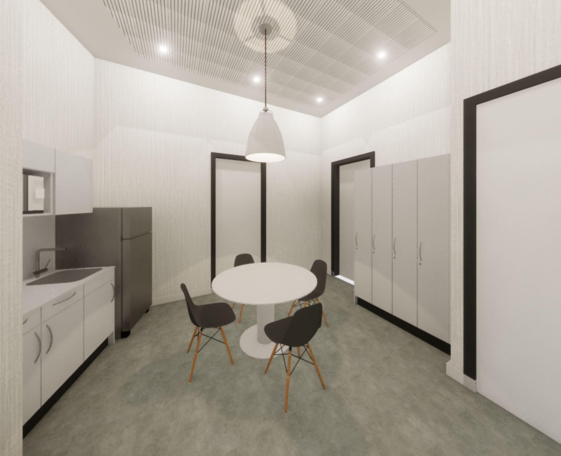 modern break room for a dental office