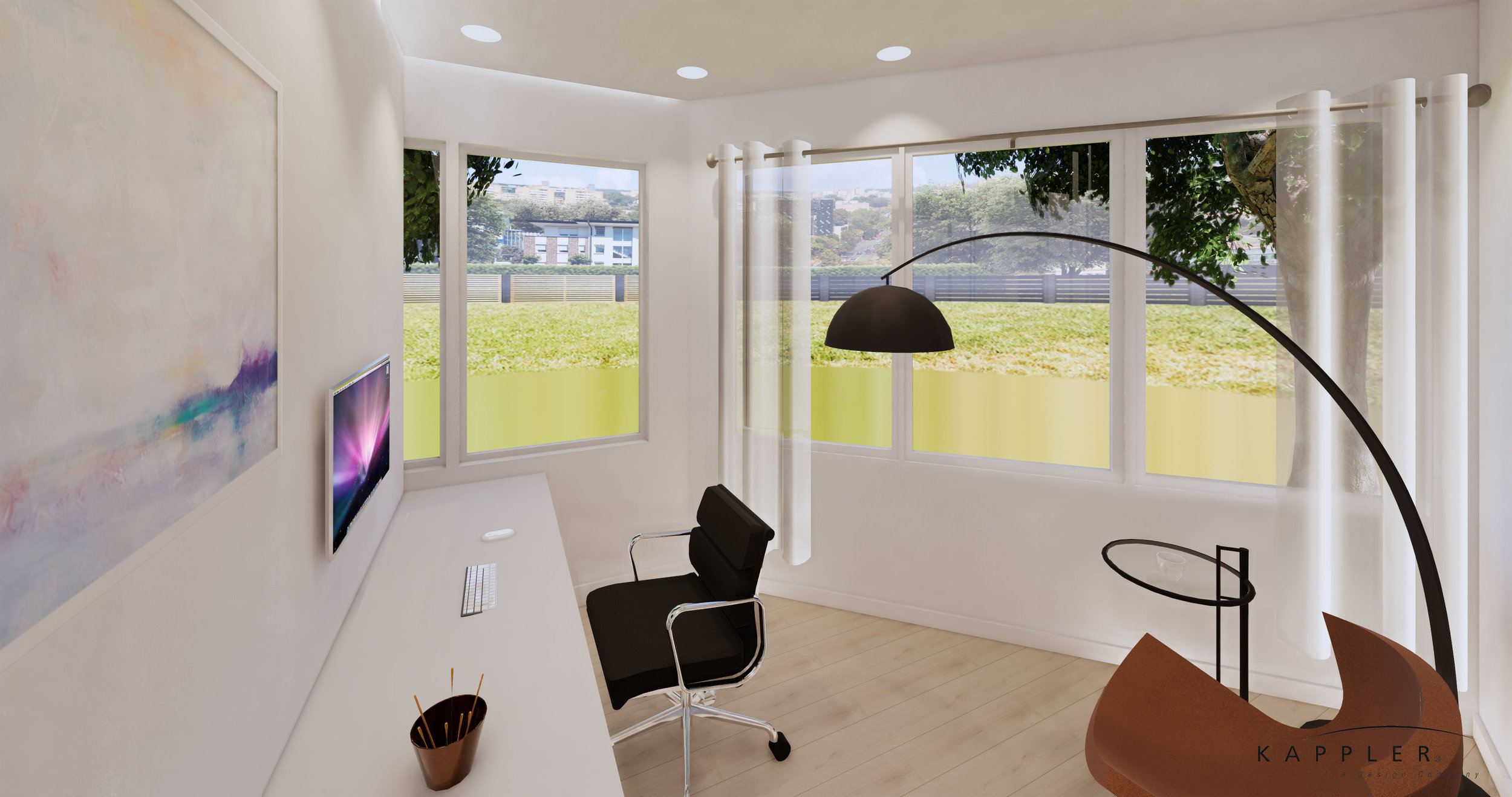 hygge style office space in a dental office