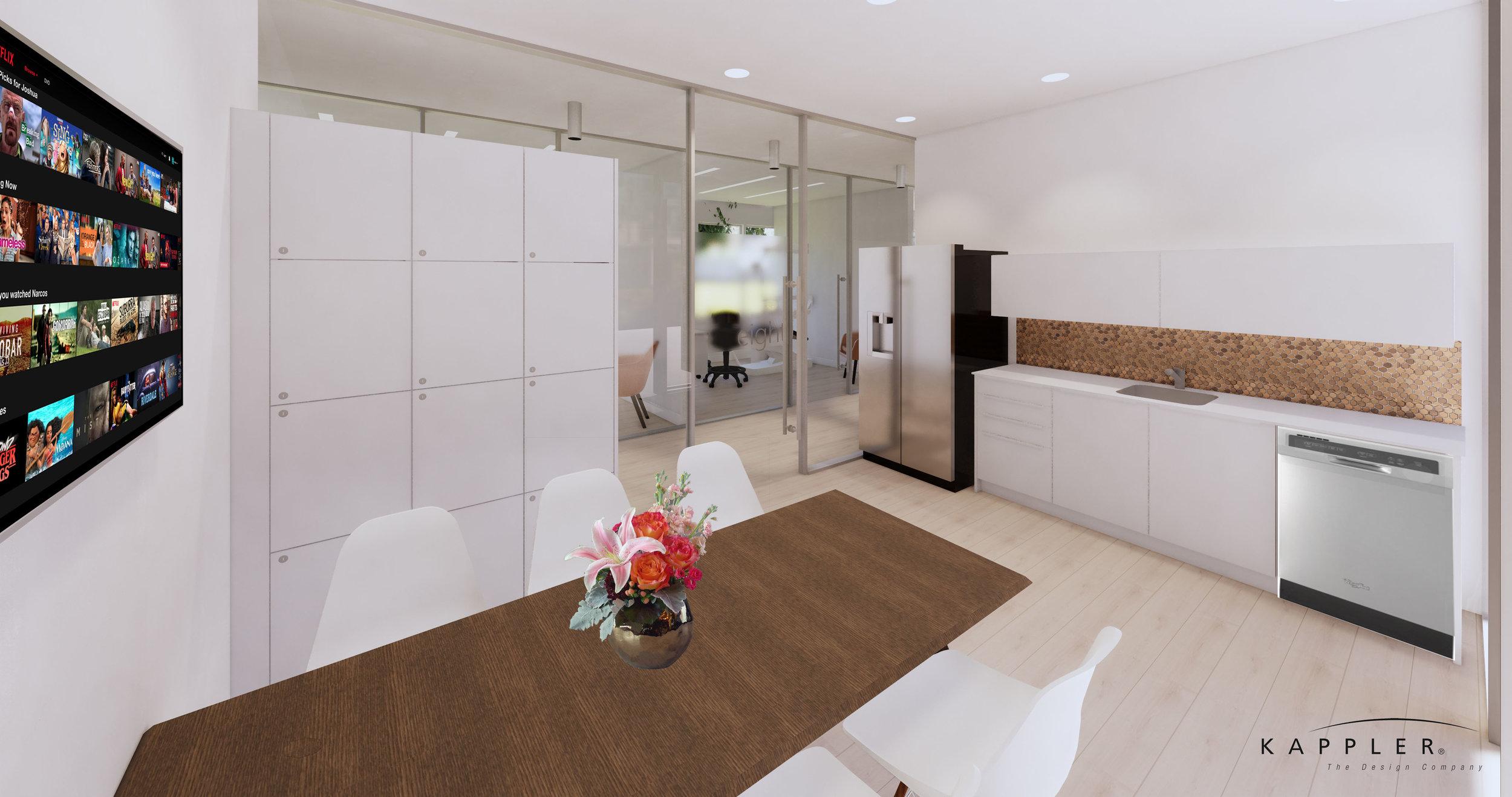 nordic inspired dental office break room
