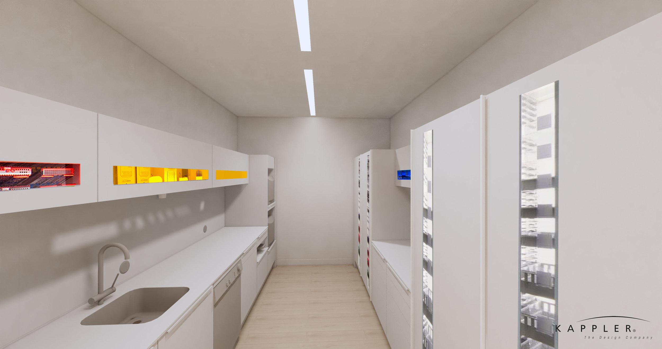 hygge inspired dental office break room