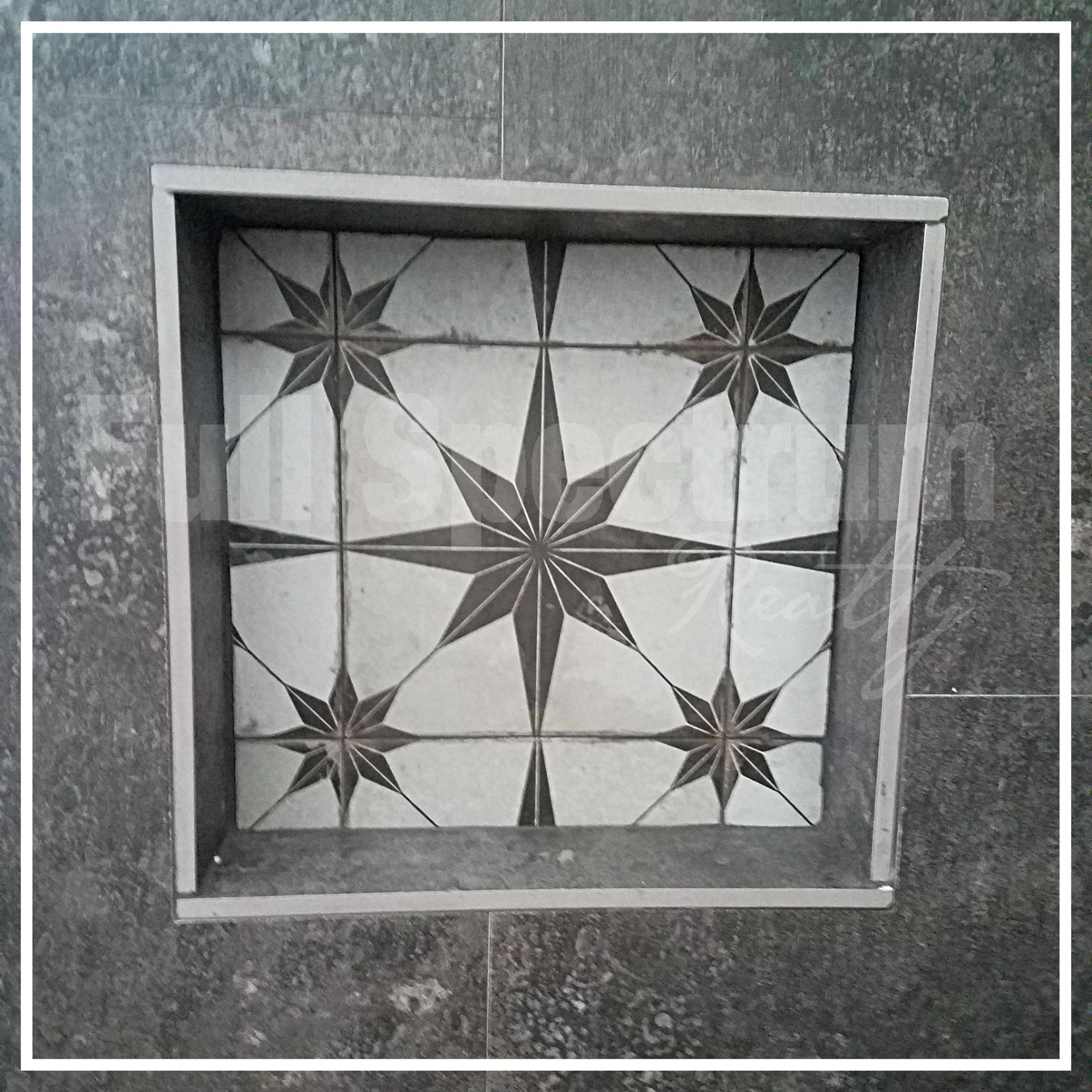 shower nook tile design