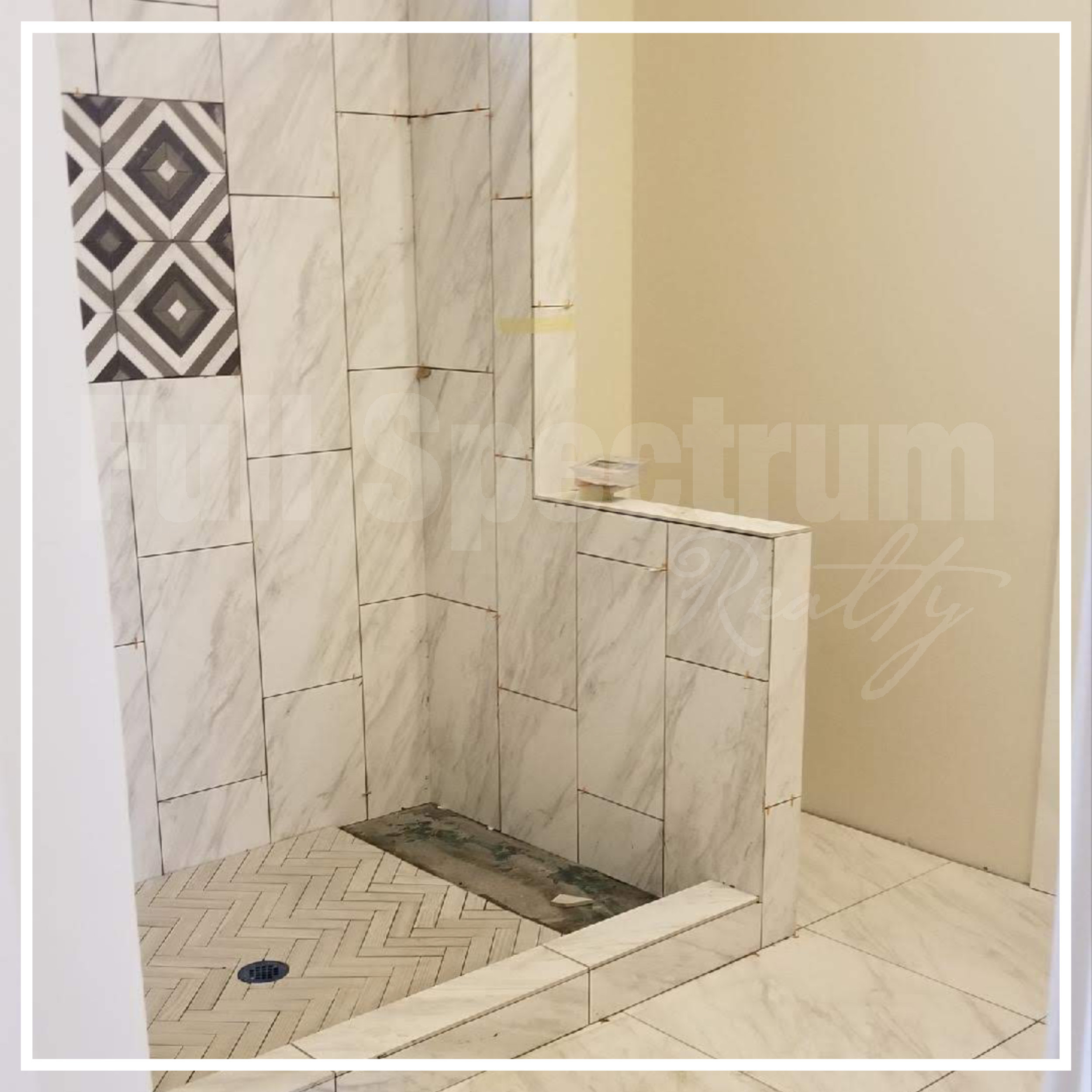 master shower tile install