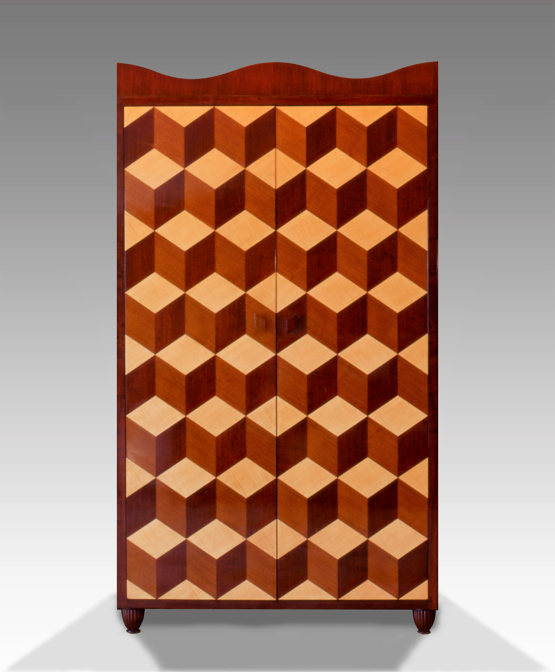 Geometric Marquetry Armoire