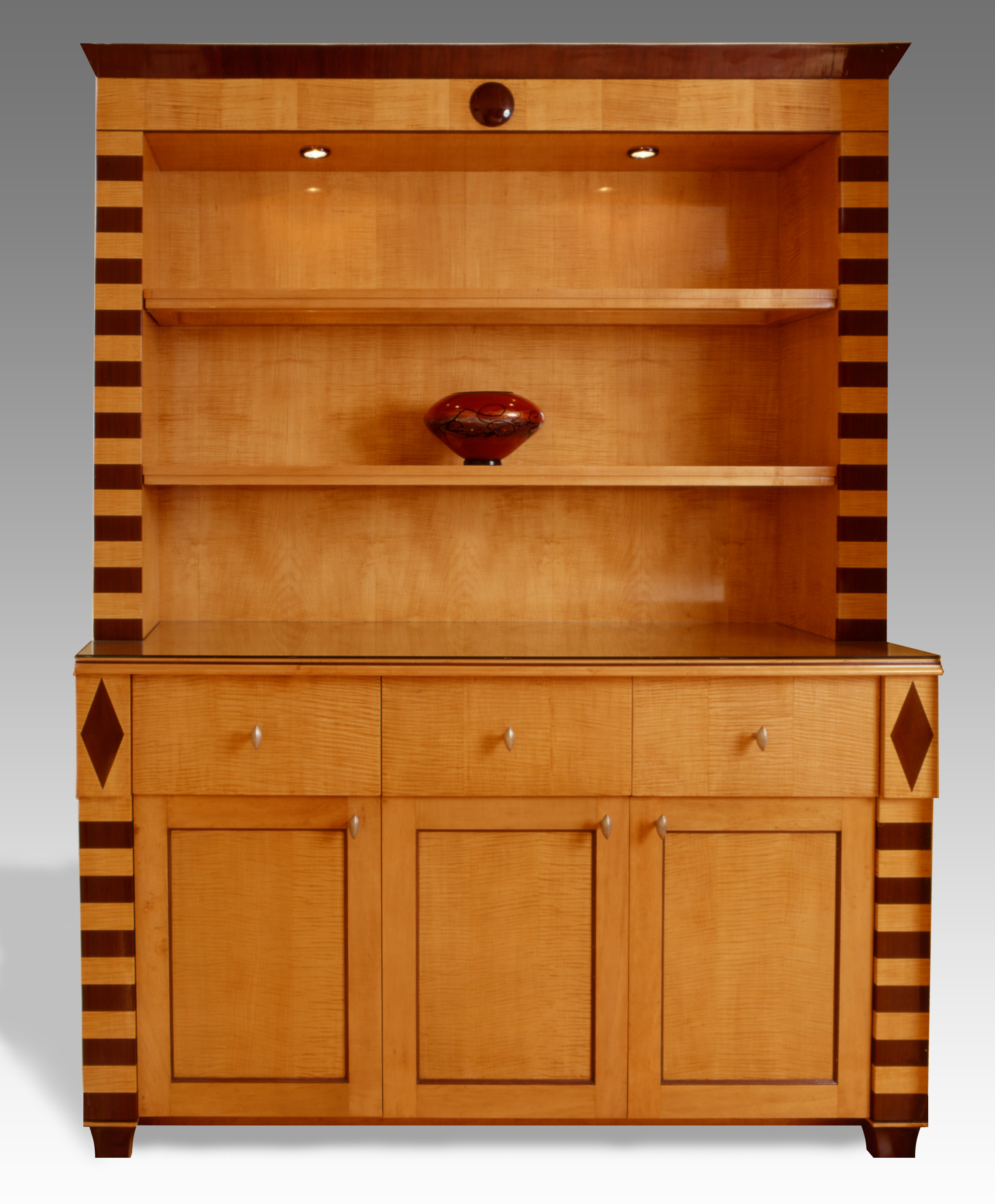Transitional Art Deco Bookshelf