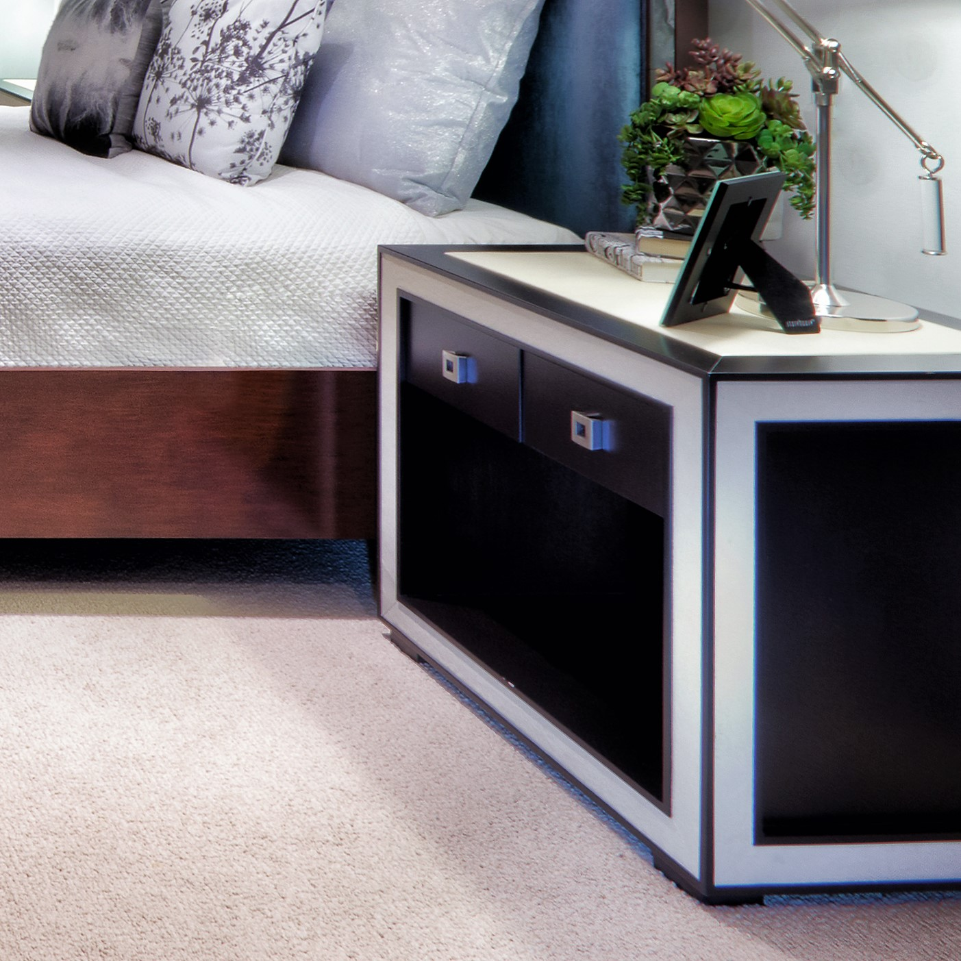 Contemporary Contrasting Nightstand