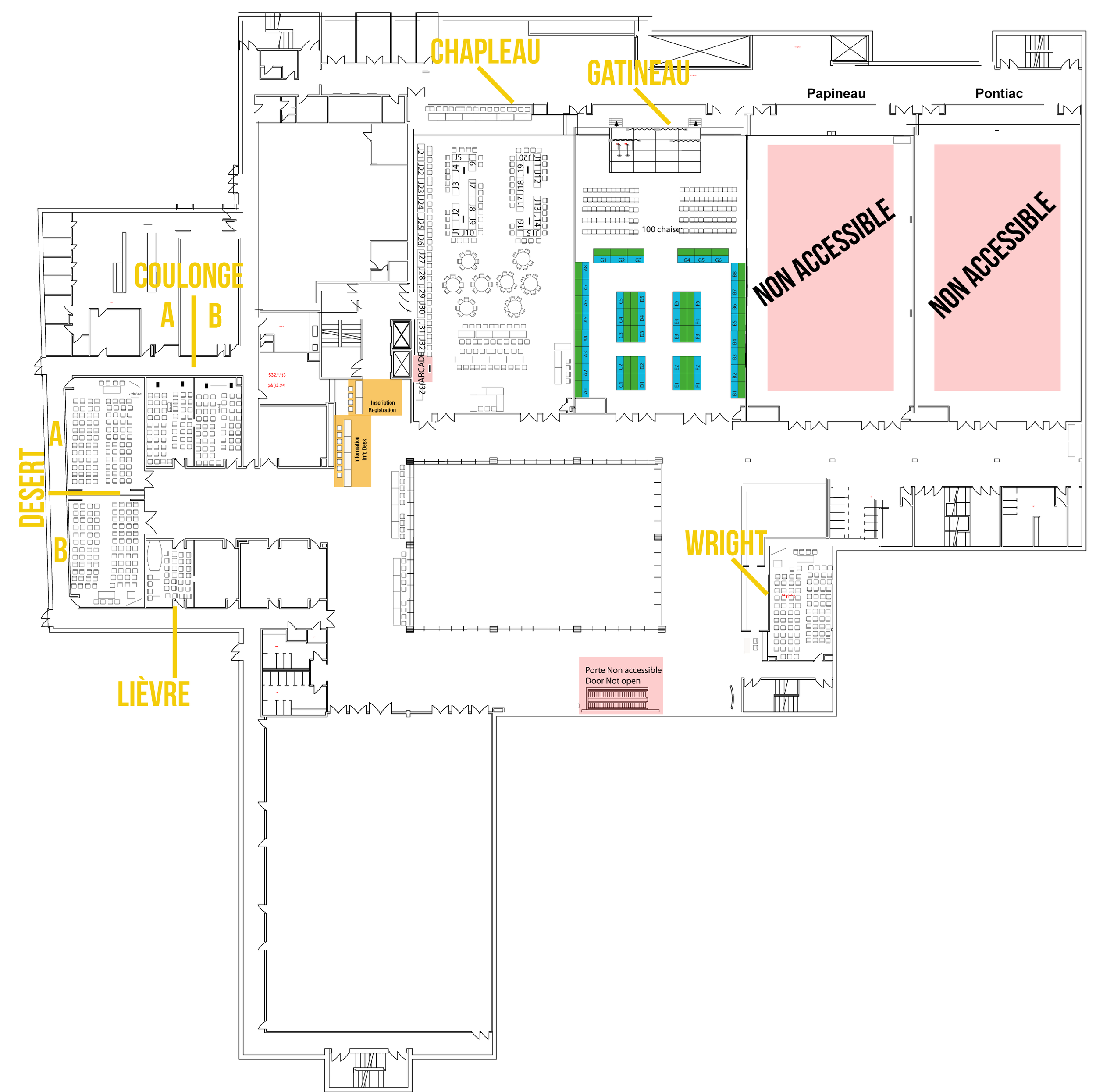 Floor plan for G-Anime Summer Édition 2018, subject to change