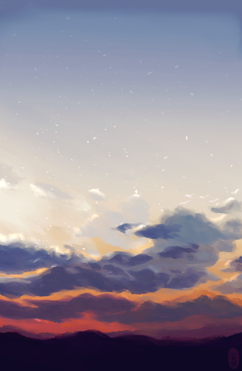 skies . sunset 02