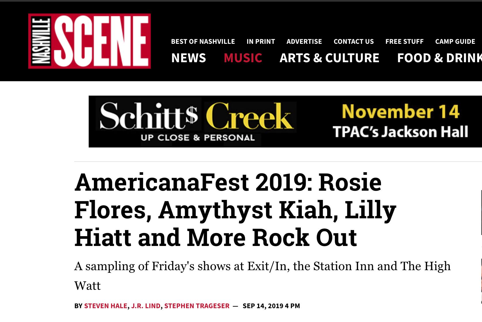 Nashville Scene discusses Katie's Americanafest performance at the High Watt