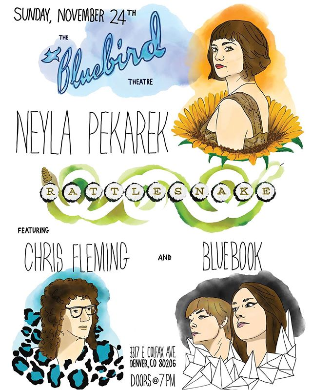 Super super excited to announce we will be opening for @neylapekarek at the @bluebirdtheater on Sunday, November 24. The evening will be hosted by @chrisflemingfleming, with special guests @thenewfangledfour. This promises to be a very special night! Ticket link in bio.