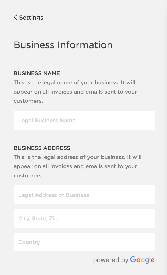 Squarespace SEO | Business Information