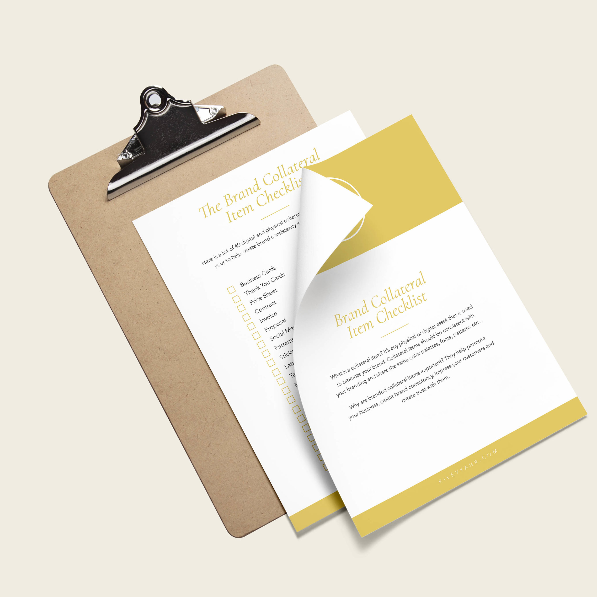The Brand Collateral Item Checklist -