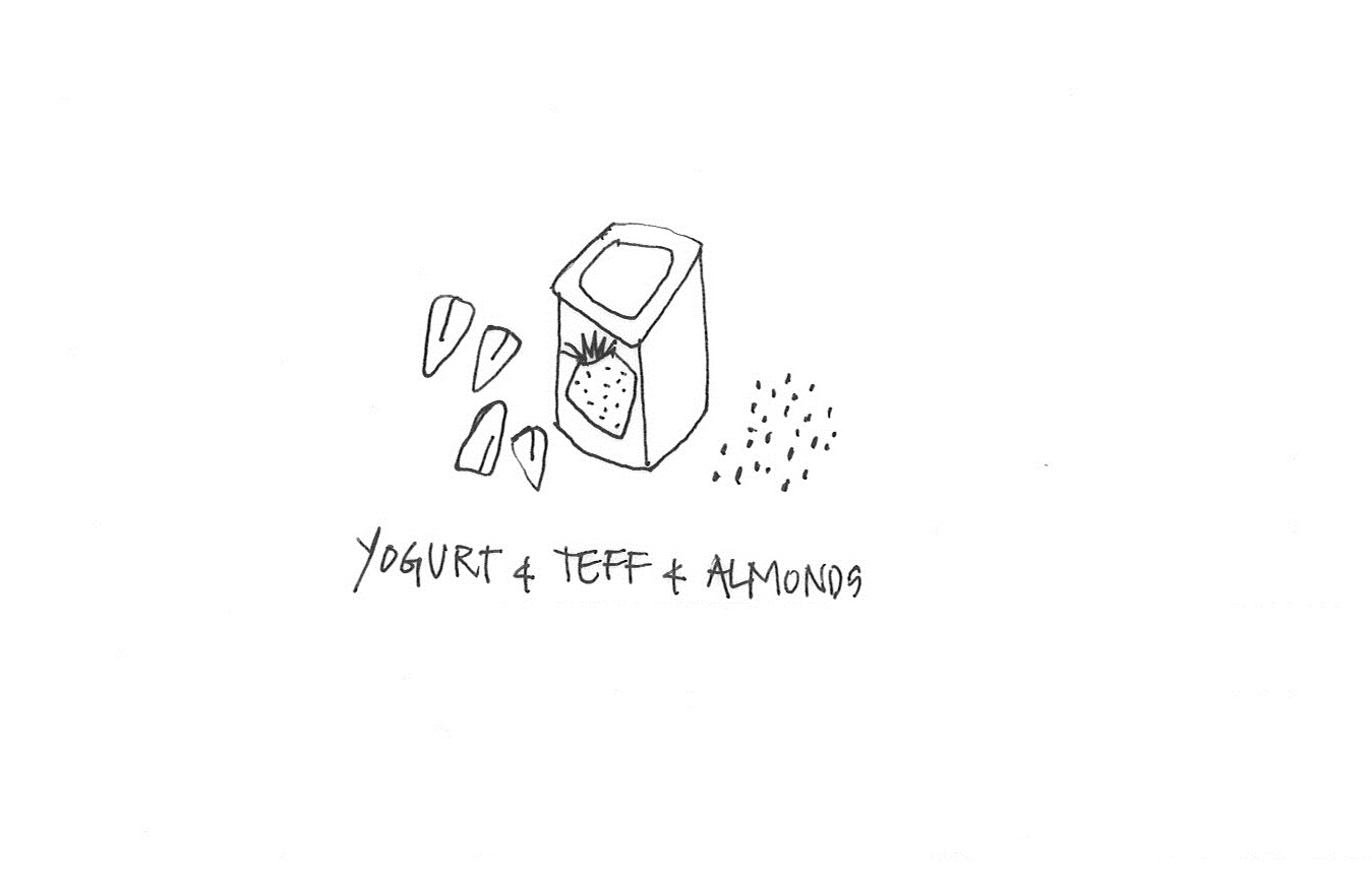 Yogurt & teff & almonds