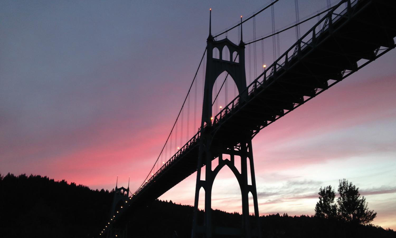 [Photo: St. Johns Bridge. Credit: Nickie Bournias.]