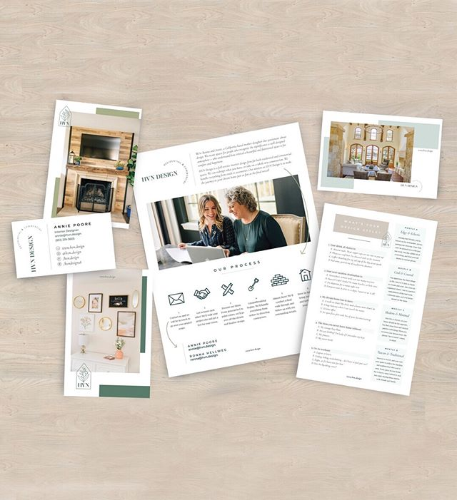 This was such a fun project to work on for @hvn.design and it's officially the first client project EVER that I am sharing on my website, but the wait was more than worth it! 🌿 🖥 I designed their website and a set of printed marketing materials, and it all turned out SO GOOD 🤤 Go to the link in my bio for the full blog post on this project, and make sure to check out @hvn.design for all sorts of interior design goodness!