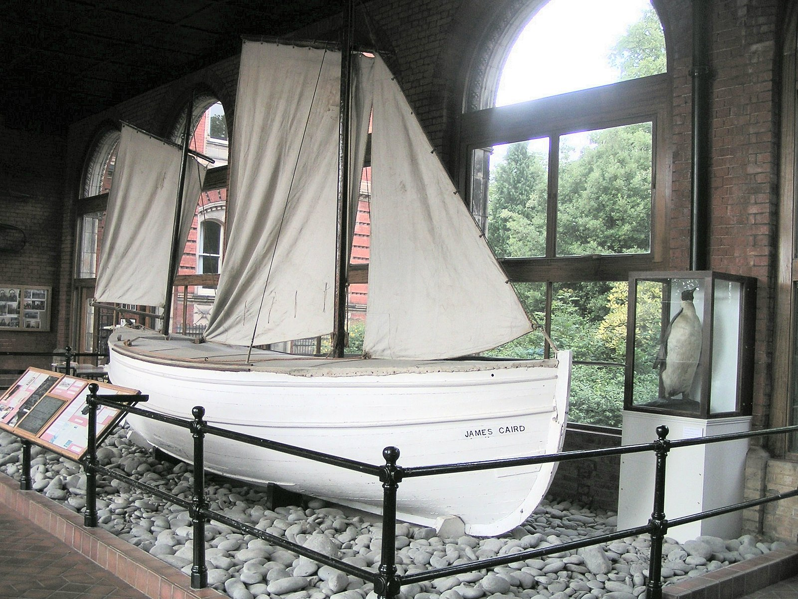 The James Caird on display at Dulwich College in South London  Image from:  https://commons.wikimedia.org/wiki/File:James_Caird_bow.jpg