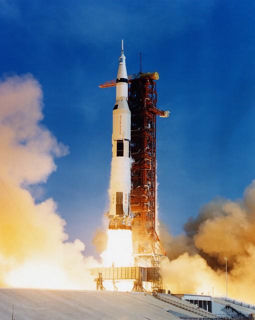 Apollo 11 Launches    (NASA, Marshall, 07/16/69)    July 16, 1969 : Apollo 11 launch.  Image credit: NASA