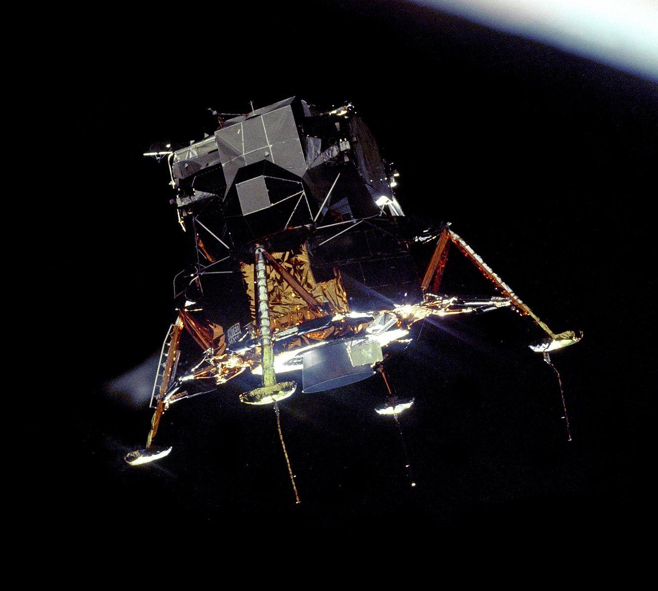 Apollo 11 Lunar Module Eagle  in Landing Configuration.   July 20, 1969   Image credit: NASA