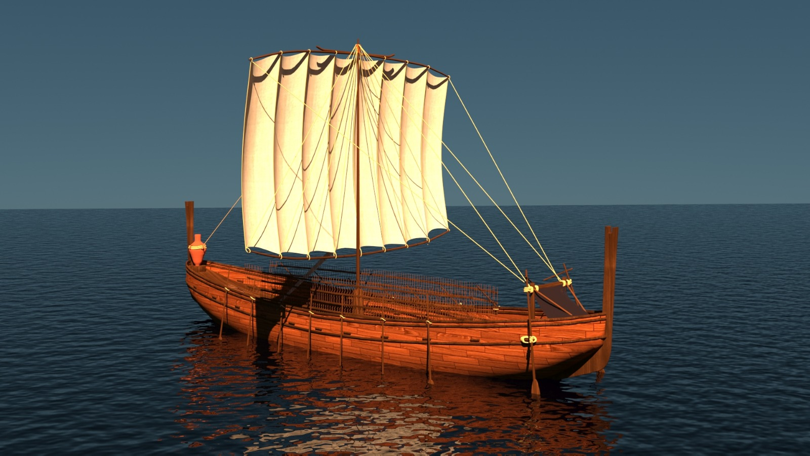3D model of an Ancient Phoenician Trading Vessel Likely Similar to the Western Antalya Wreck  Credit: Aysenur Toksöz, Archeology Master's Student with Akdeniz University, Turkey
