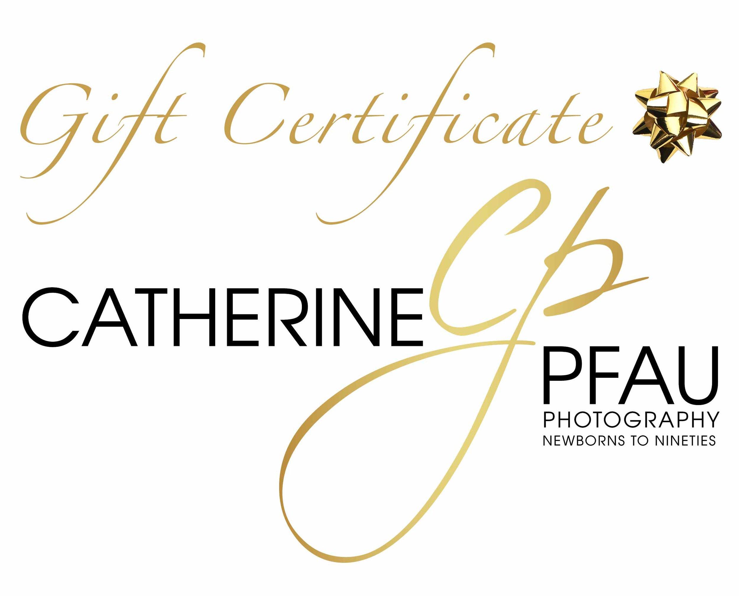 Catherine Pfau Photography Gift Certificates