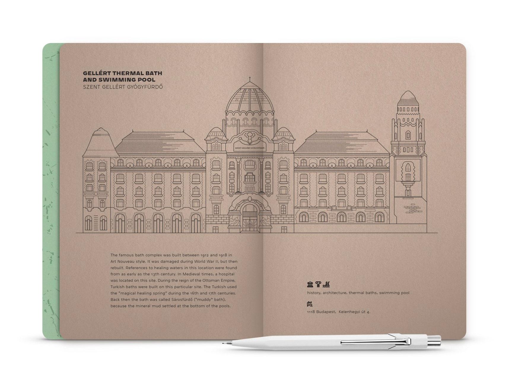 Hello Budapest eco-design notebook