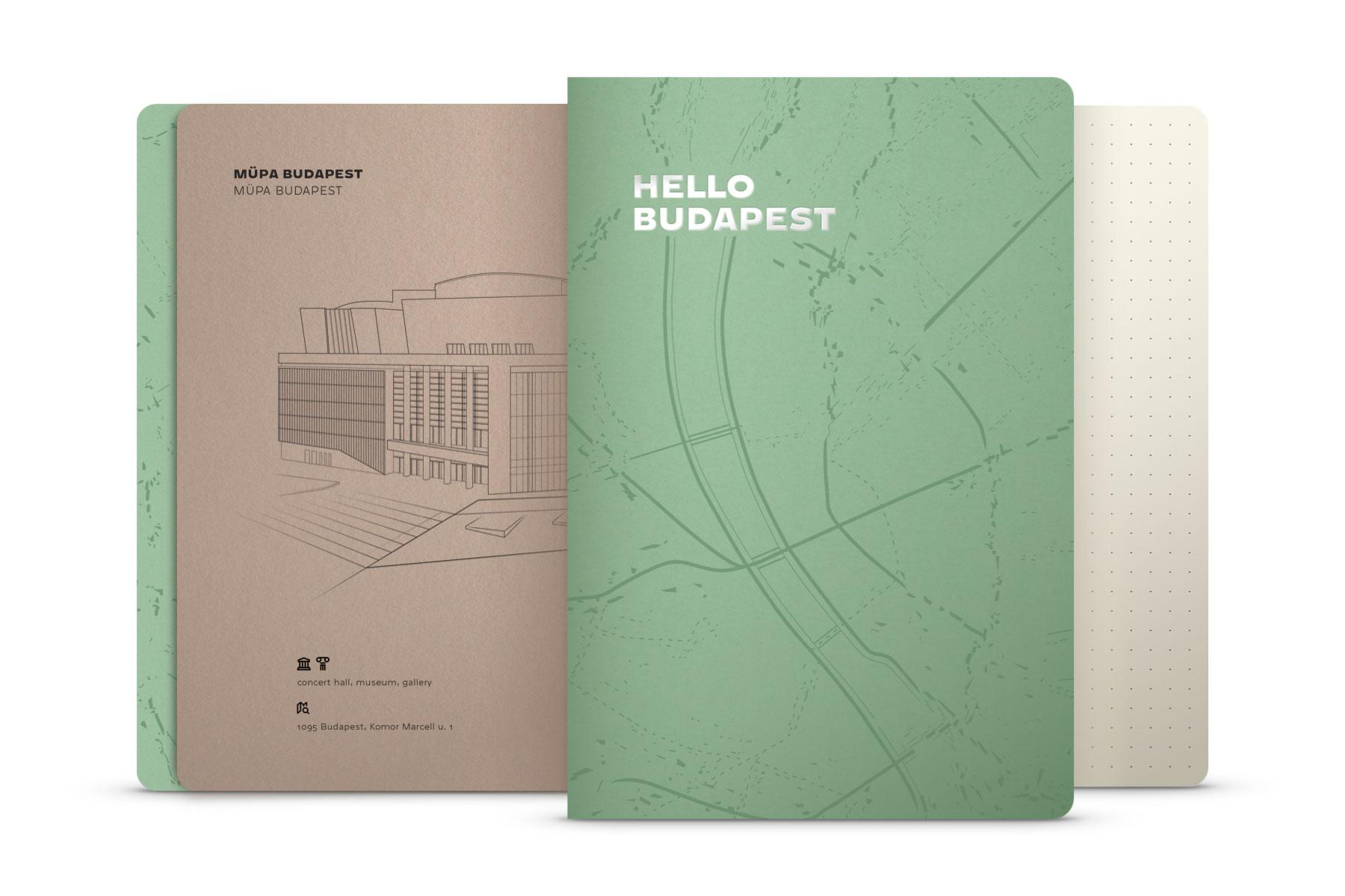 Hello Budapest eco-design notebook - Macha Tea Edition