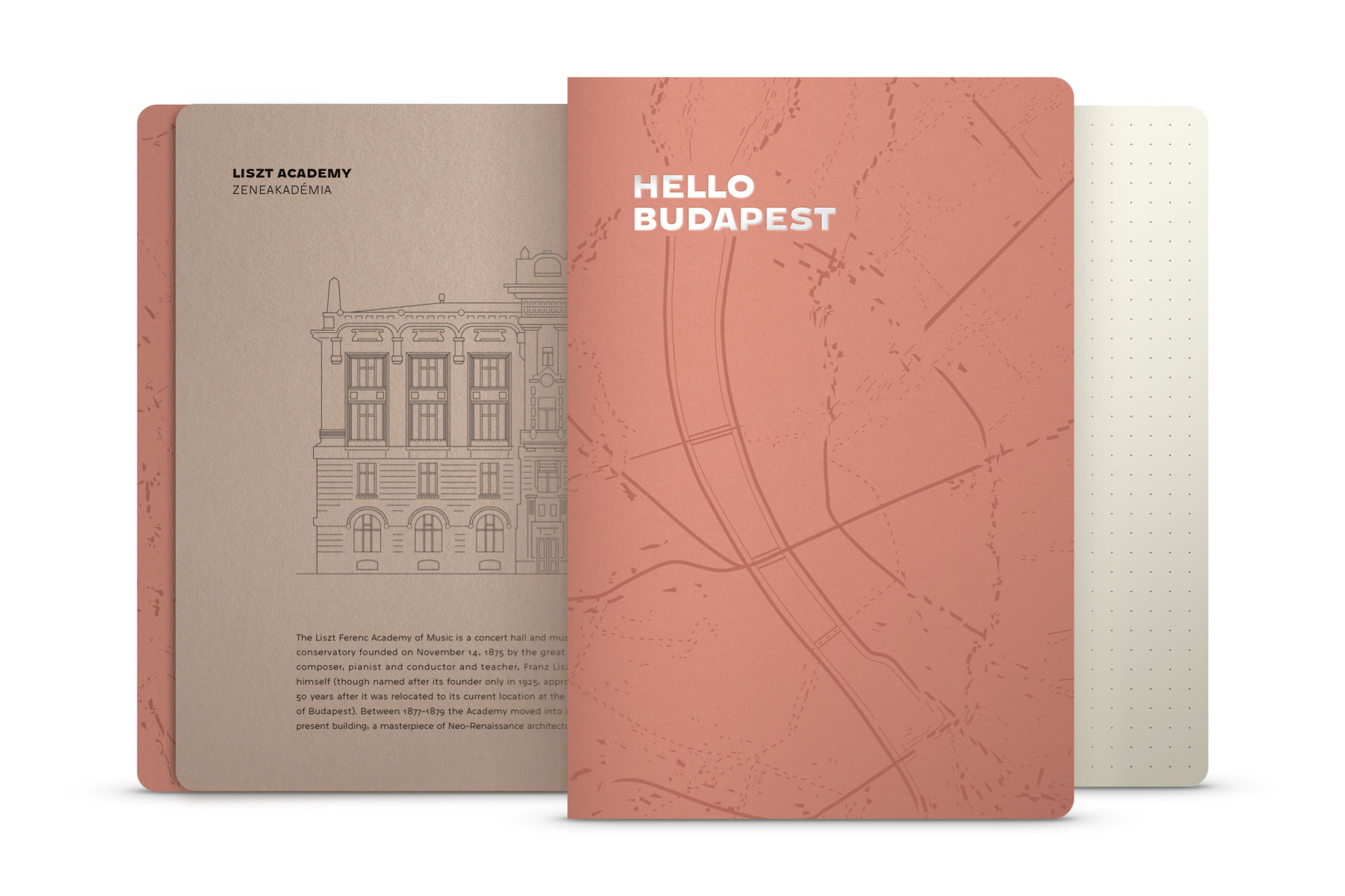 Hello Budapest eco-design notebook - Rosebud Edition