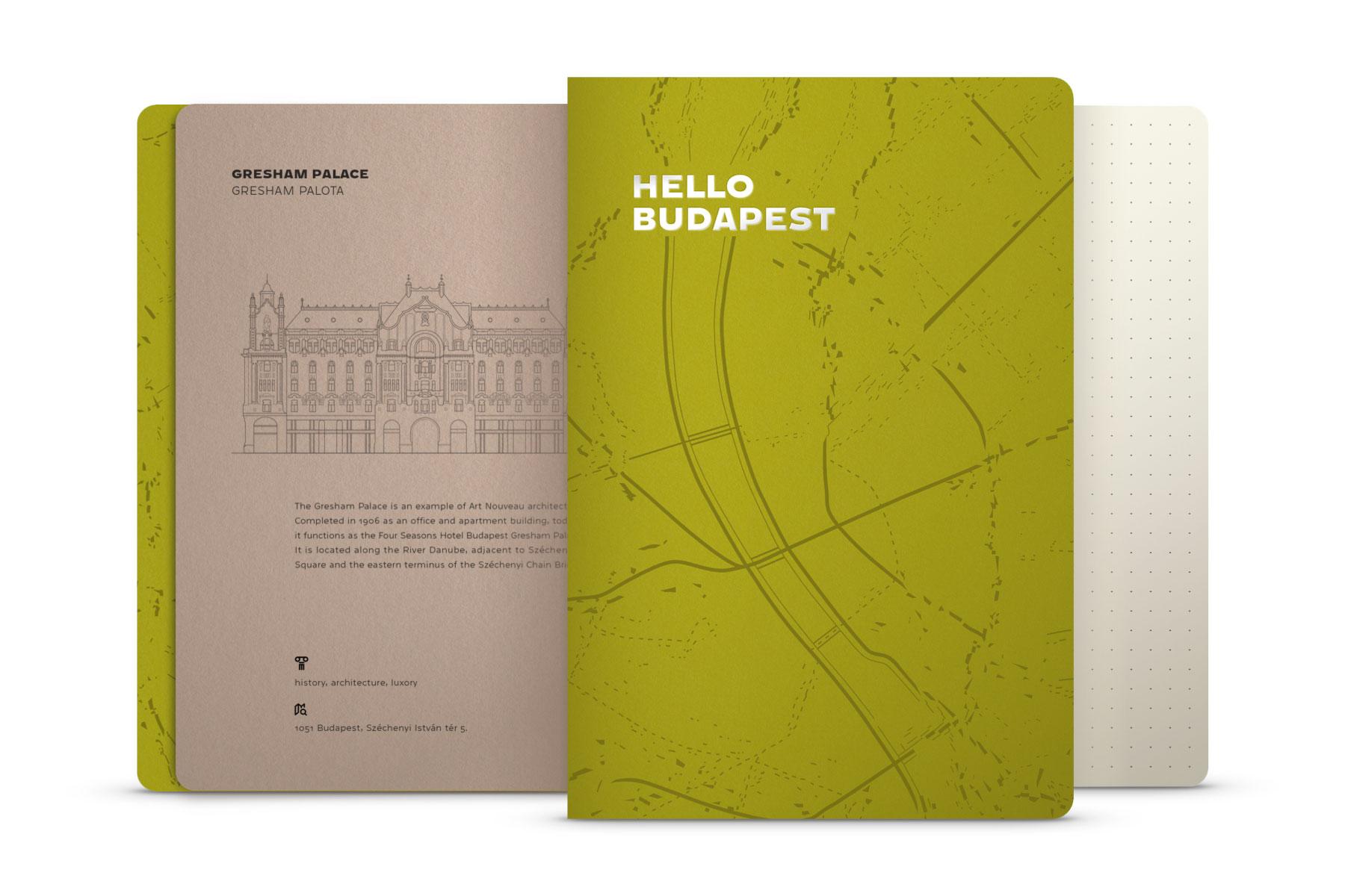 Hello Budapest eco-design notebook - Kiwi Edition