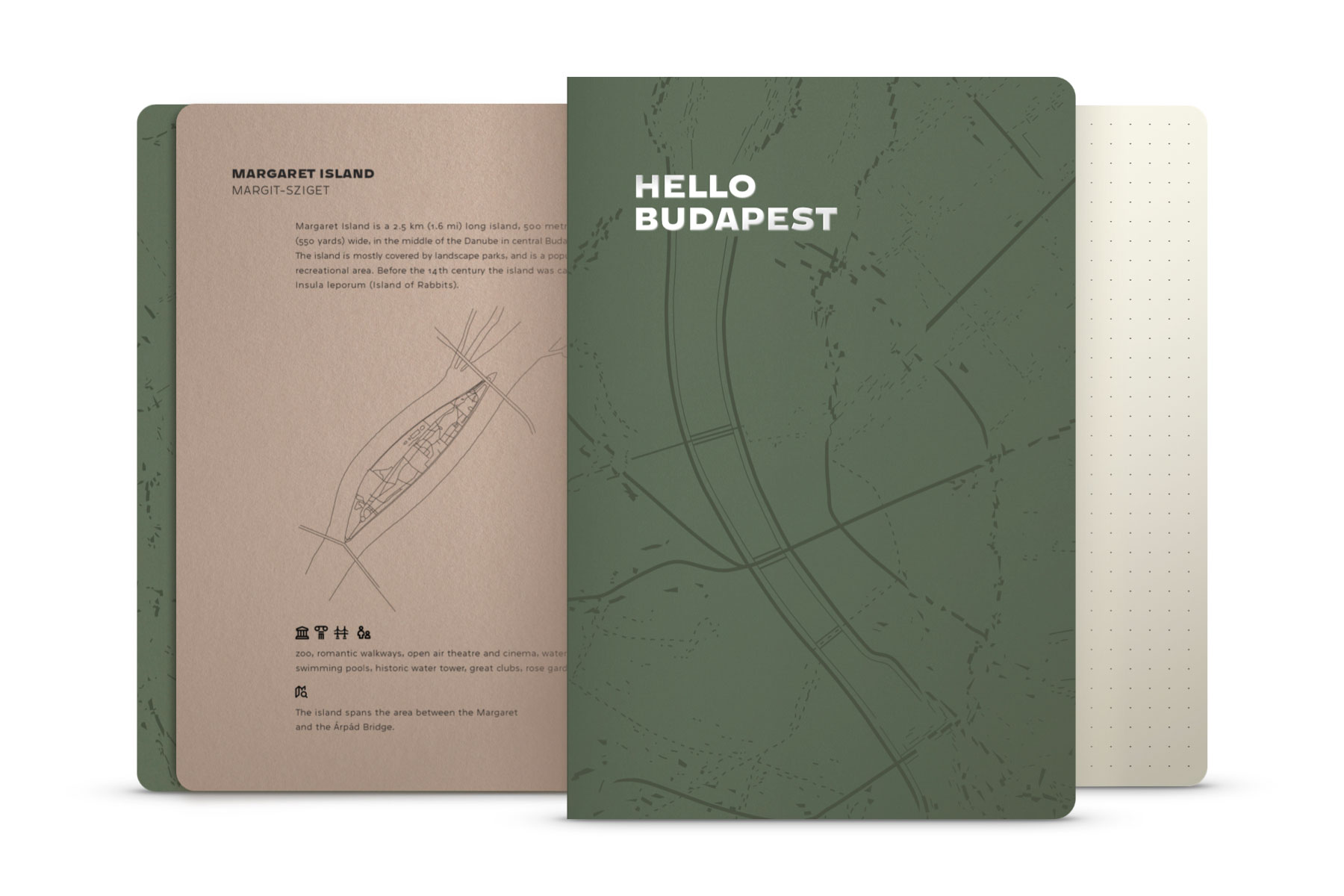 Hello Budapest eco-design notebook - Sequoia Edition