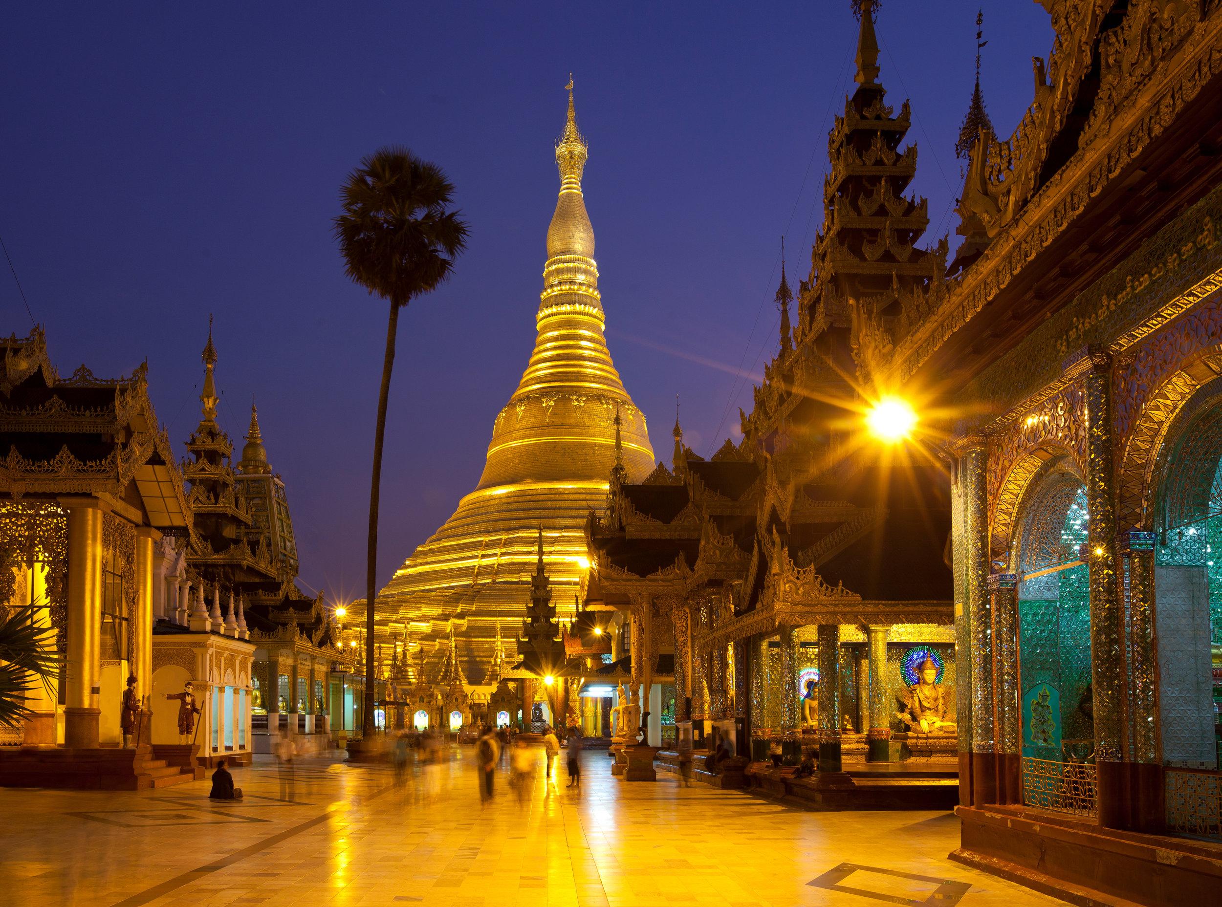 """""""Schwedagon Pagoda"""" Yangon, Myanmar"""