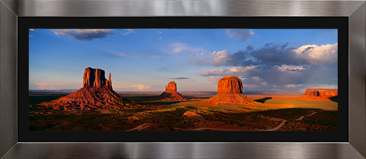 Monument Valley with Stainless & Black Frame