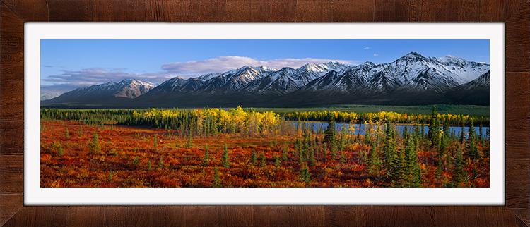 Kluane Mountains with Tobacco & White Frame