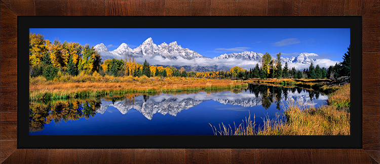 Schwabachers Landing with Tobacco & Black Frame