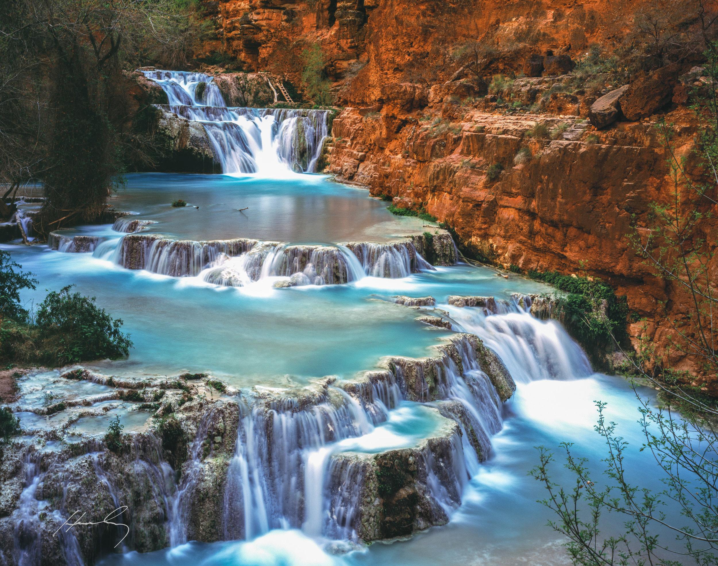 """Beaver Falls"" Havasu Canyon, Arizona"