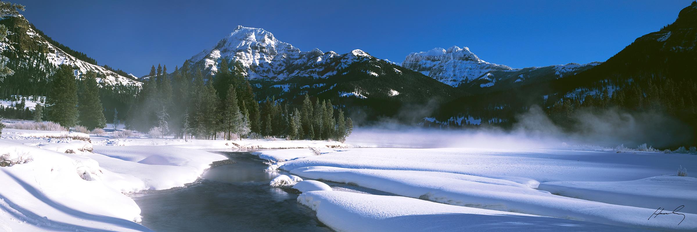 """Morning Fog"" Yellowstone N.P., Wyoming"