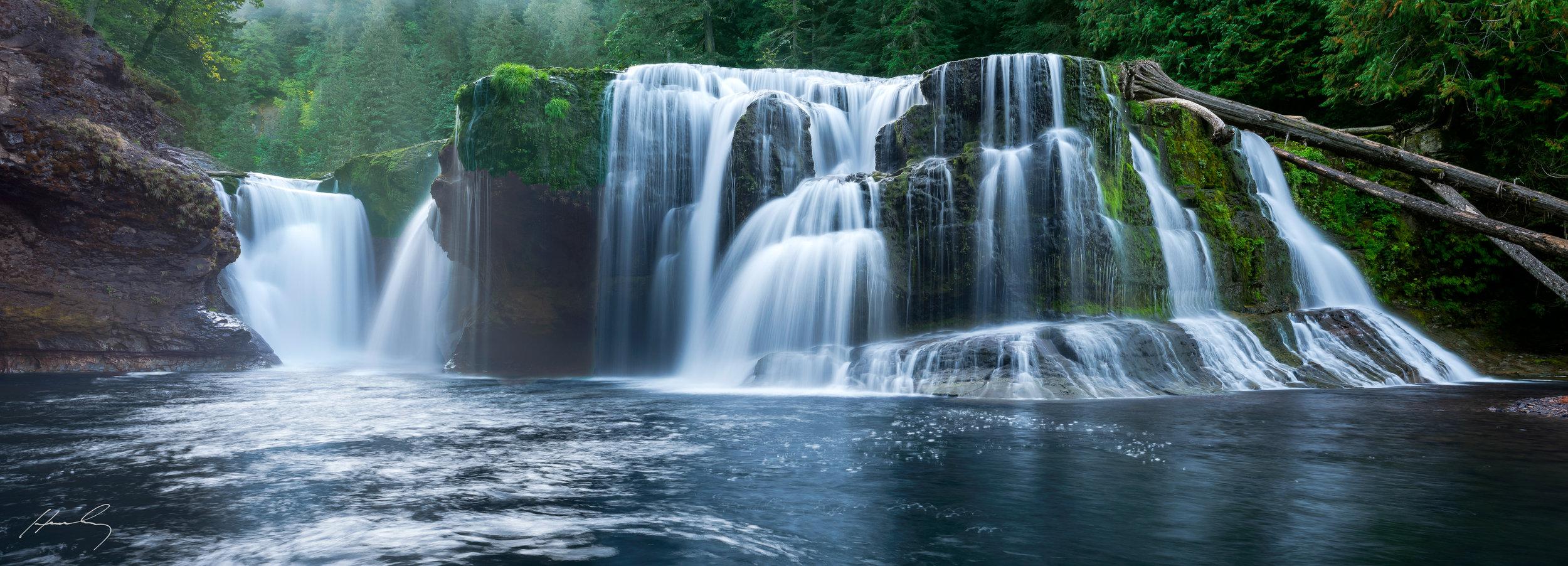 """""""Lower Lewis Falls"""" Washington"""
