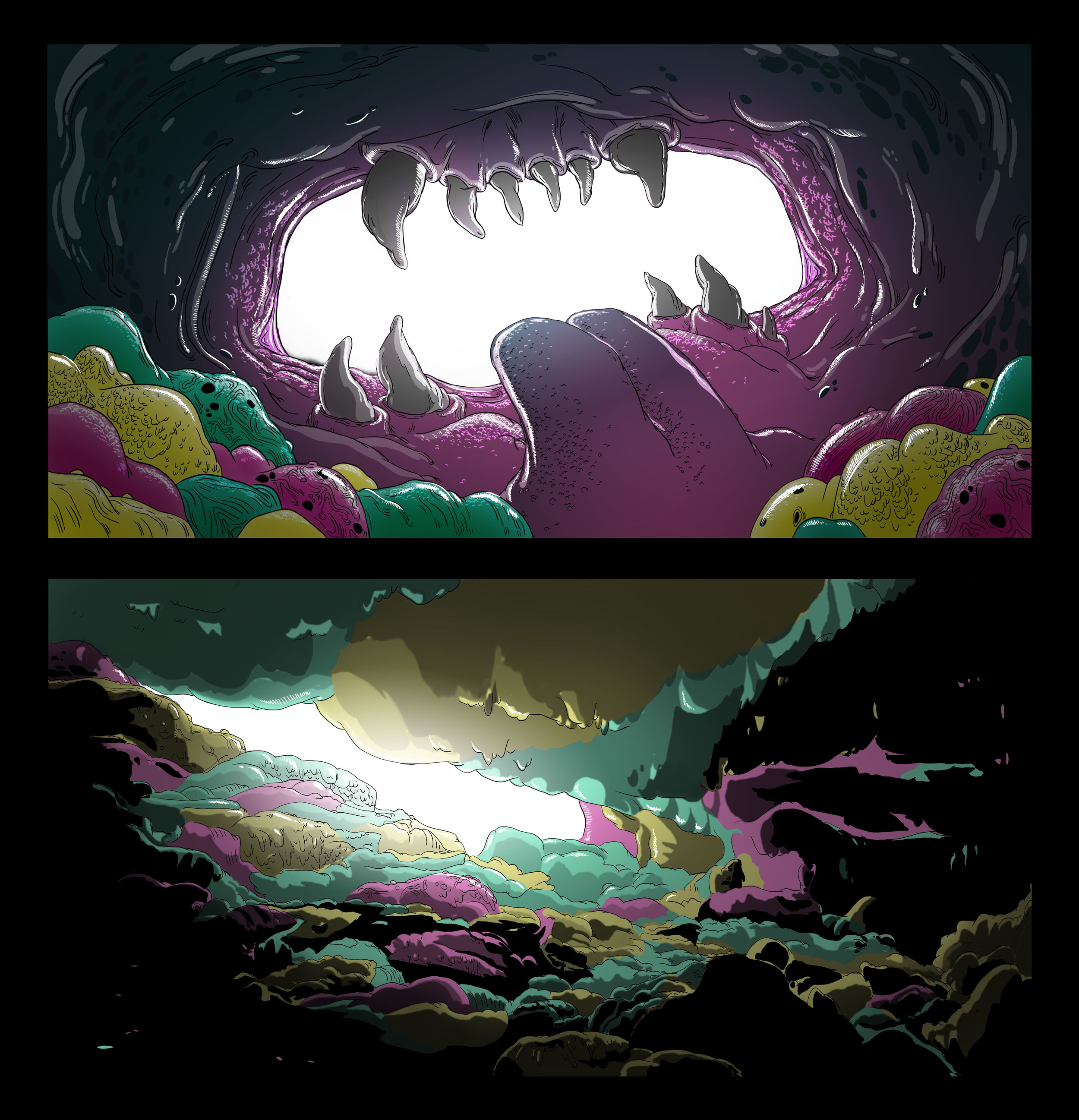 """Background Paintings - """"Abel's Body"""" Pitch"""