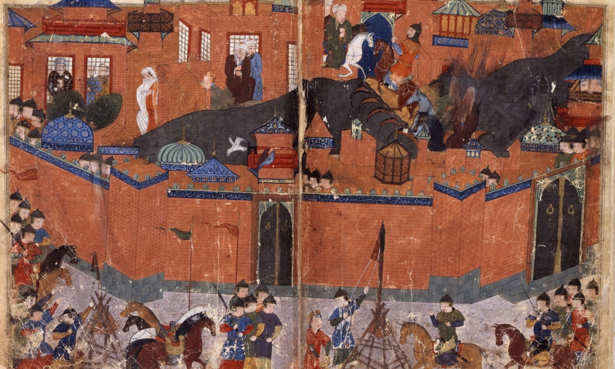 Artwork depicting the Mongol Seige of Baghdad, 1258CE.