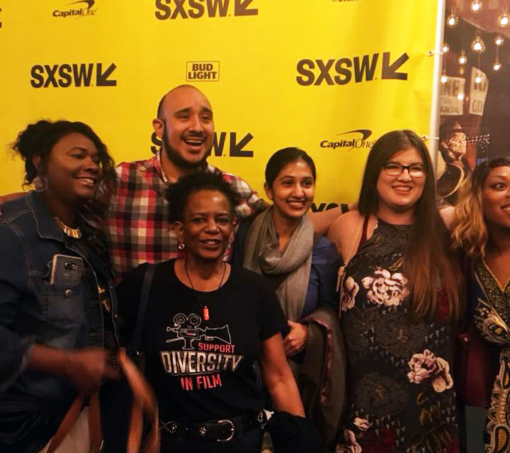 Instructor  Rhitu Basu  with her students from ASoF film course,  Minority Lens .