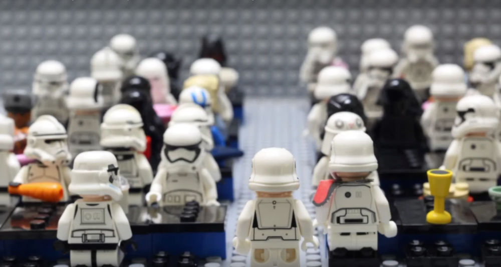 A still from Amari's recent short film  The Only Stormtrooper Who Could Shoot Straight