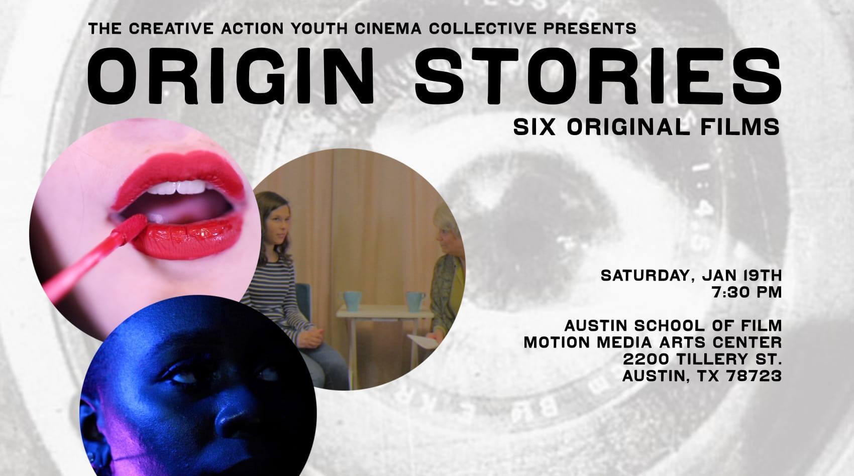 Youth Cinema Collective Screening: Origin Stories