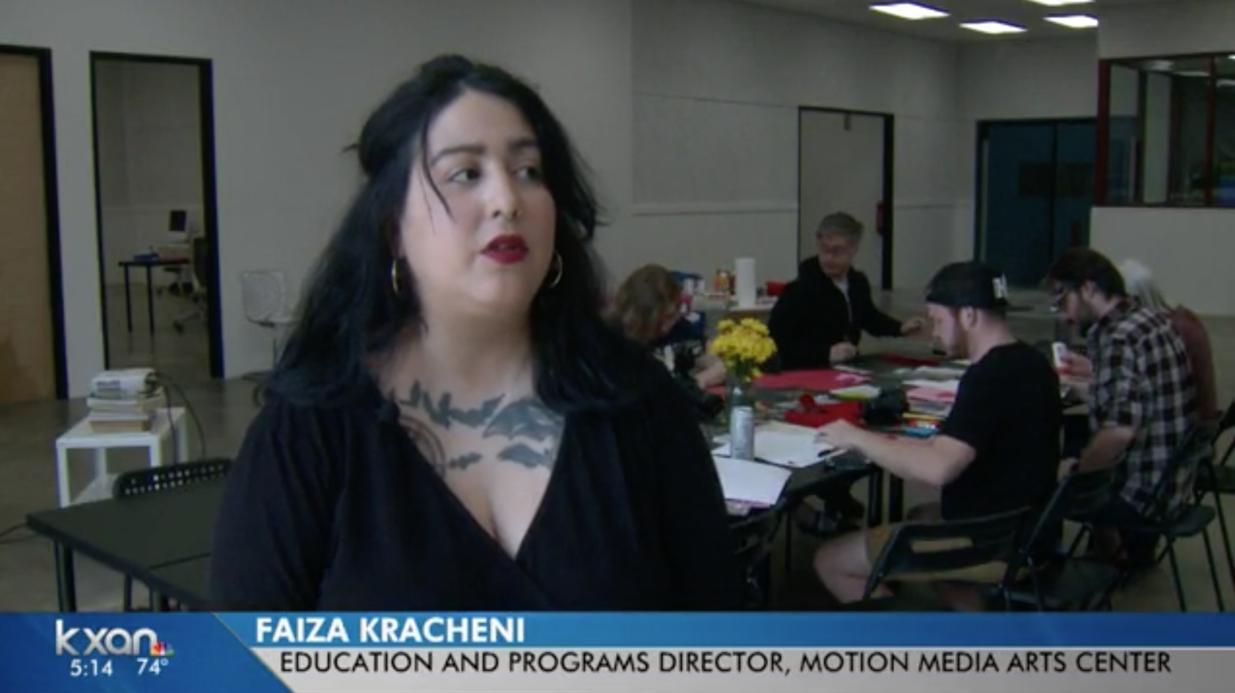 Faiza on KXAN talking about accessible spaces, February 2018